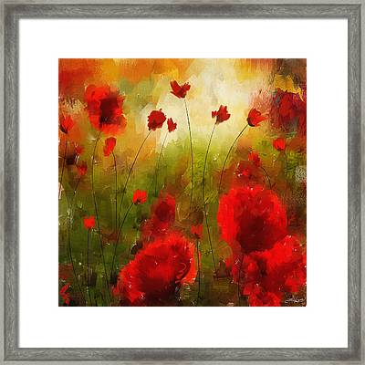 Beauty In Bloom Framed Print by Lourry Legarde