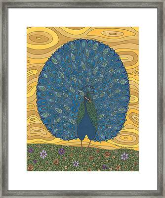 Beauty In Blue And Green Framed Print by Pamela Schiermeyer