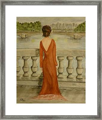 Framed Print featuring the painting Beauty In Paris by Kelly Mills