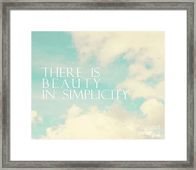 Framed Print featuring the photograph Beauty In Simplicity by Sylvia Cook