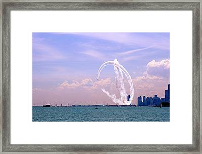 Beauty In The Air Framed Print