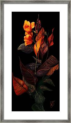 Framed Print featuring the painting Beauty In The Dark by Yolanda Raker