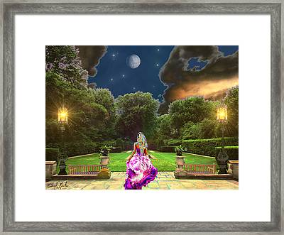 Beauty In The Garden Framed Print by Michael Rucker