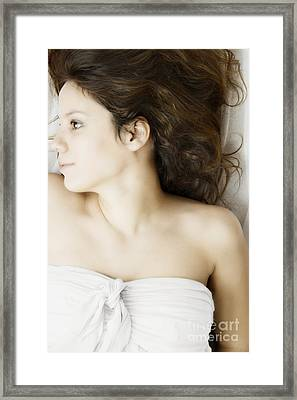 Beauty In White Framed Print by Margie Hurwich