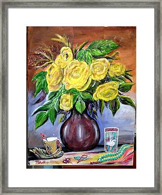 Beauty In Yellow Framed Print by M Bhatt