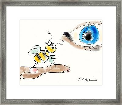 Beauty Is In The Eye Of The Beholder Framed Print by Jason Nicholas