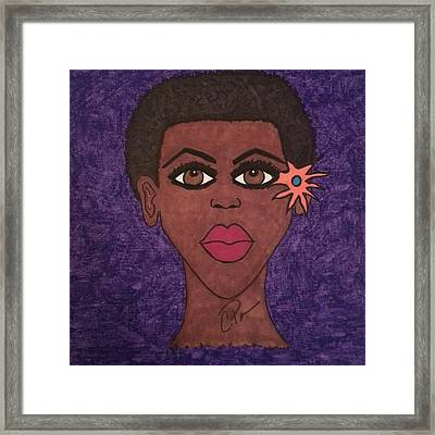 Framed Print featuring the drawing Beauty Is In The Eyes by Chrissy  Pena