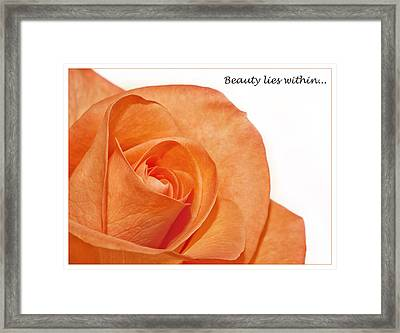 Framed Print featuring the photograph Beauty Lies Within... by Kim Andelkovic