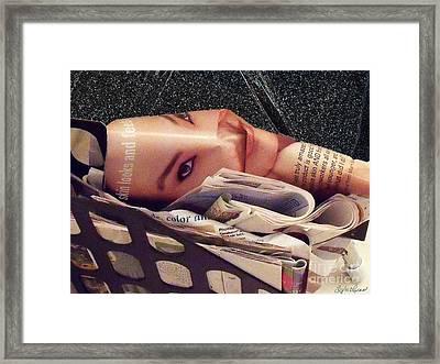 Beauty Magazine Framed Print by Lyric Lucas