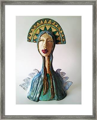 Beauty Of A Mother Framed Print by Agnieszka Parys-Kozak