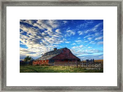 Beauty Of Barns 10 Framed Print by Bob Christopher