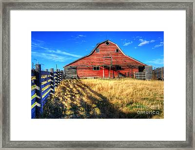 Beauty Of Barns 8 Framed Print by Bob Christopher