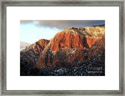 Beauty Of Kolob Canyon  Framed Print by Bob Christopher
