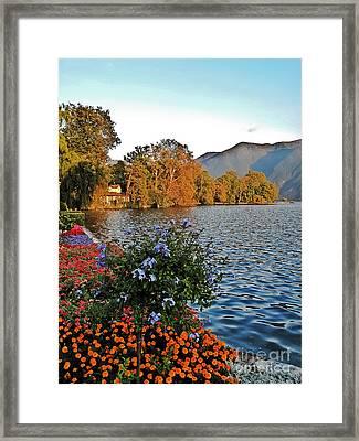 Beauty Of Lake Lugano Framed Print