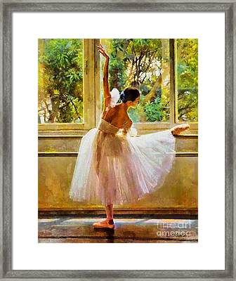 Beauty Of Light Framed Print by Elizabeth Coats