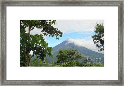 Beauty Of Mayon Framed Print by Manuel Cadag