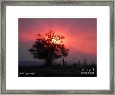 Beauty Of Sunset Framed Print