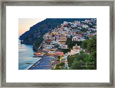 Beauty Of The Amalfi Coast  Framed Print by Leslie Leda