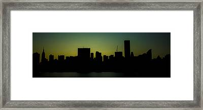 Beauty Of The Night Framed Print
