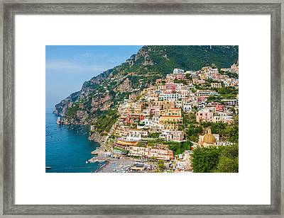 Beauty Of The Positano Framed Print by Gurgen Bakhshetsyan
