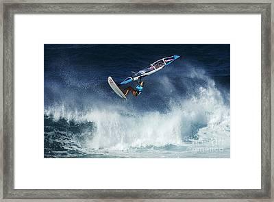 Beauty Of Windsurfing Maui 1 Framed Print by Bob Christopher