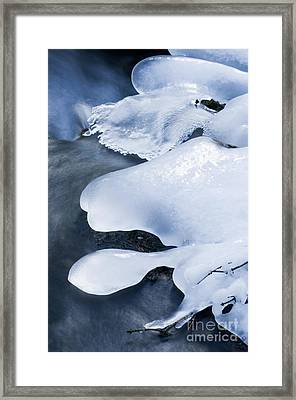 Beauty Of Winter Ice Canada 17 Framed Print