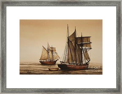 Beauty Of Wooden Ships Framed Print by James Williamson