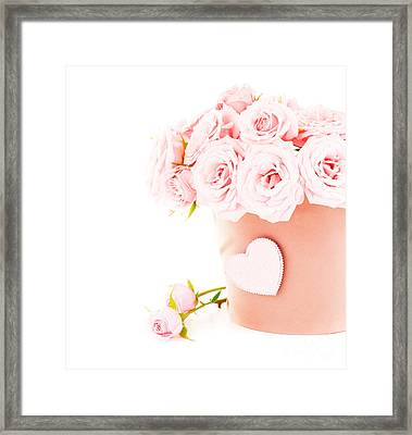Beauty Pink Roses Framed Print by Boon Mee