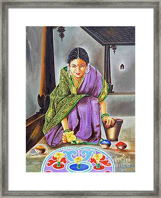 Beauty Revealed- A 5000 Year Old Artistic Heritage Framed Print by Ragunath Venkatraman