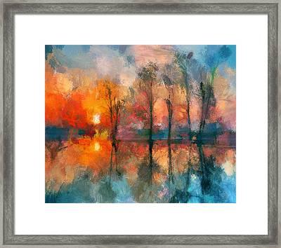 Beauty Sunset Framed Print by Yury Malkov