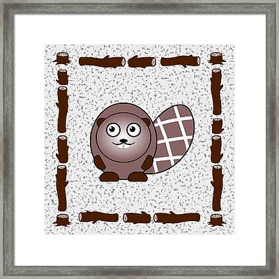 Beaver - Animals - Art For Kids Framed Print