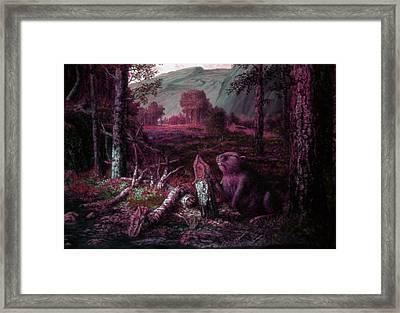 Beaver Framed Print by Genio GgXpress