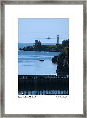 Beaver Harbour Nb Canada Framed Print