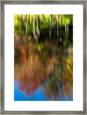 Beaver Pond Reflections 5 Framed Print by Rob Huntley