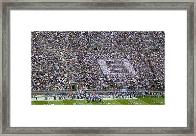 Beaver Stadium S Zone Framed Print by William Ames