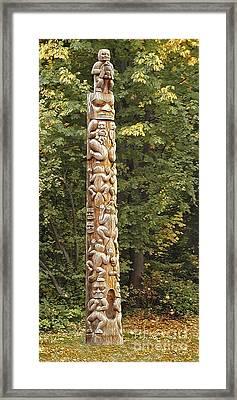 Beaver Totem Framed Print by Joseph Vittek