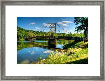 Beaver Town Bridge Framed Print by Jerry Williamson