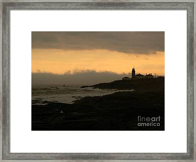 Beavertail-after The Storm Framed Print by Butch Lombardi