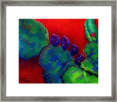 Beavertail Cactus  Pastel Framed Print by Antonia Citrino