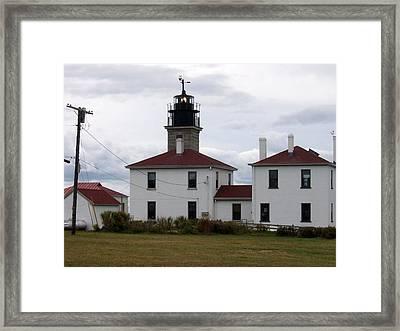 Beavertail Lighthouse Framed Print by Catherine Gagne