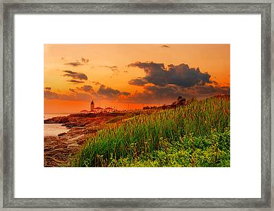 Beavertail Spectacular- Beavertail State Park Rhode Island Framed Print