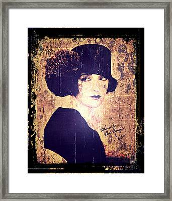 Bebe Daniels - 1920s Actress Framed Print by Absinthe Art By Michelle LeAnn Scott