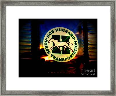 Because God Knows Horses Need Good Transportation Framed Print