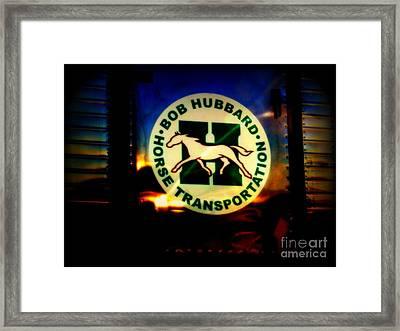 Because God Knows Horses Need Good Transportation Framed Print