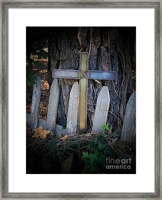 Because He Lives Framed Print by Deborah Montana