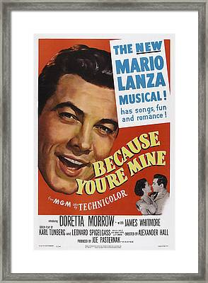 Because Youre Mine, Us Poster, Mario Framed Print by Everett