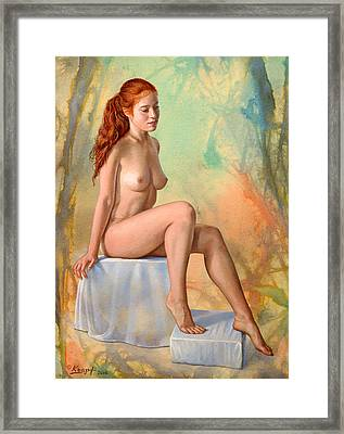 Becca 014 In Abstract Framed Print by Paul Krapf