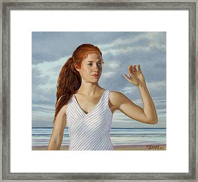 Becca Waving Framed Print