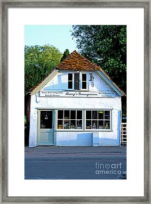 Beccy's Greengrocer Shop Stockbridge Framed Print by Terri Waters