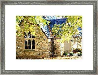 Beck Chapel In Early Autumn Framed Print by Andrea Lynch